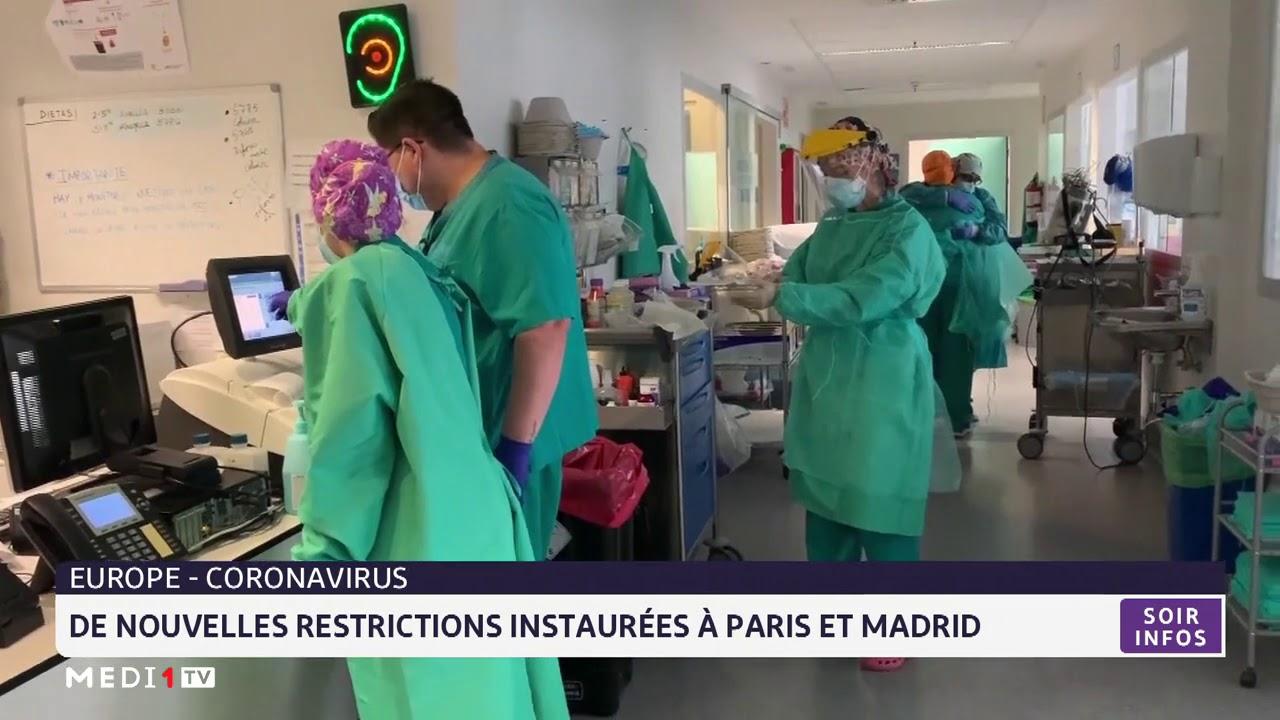 Coronavirus De Nouvelles Restrictions Instaurees A Paris Et Madrid Youtube