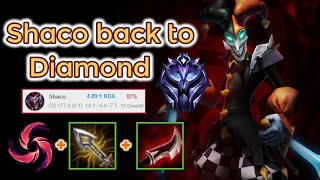 shaco back to Diamond in Season 10 League of Legends Full Gameplay - Infernal Shaco