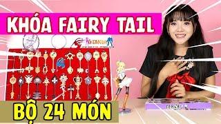 😍 [NÊN XEM] Bộ Khóa 12 Tinh Linh 24 Món Fairy Tail - Fairy Tail 24 Keys Set Unboxing