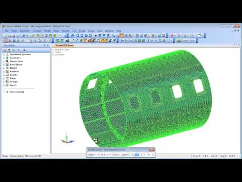 Femap Mesh Splitting
