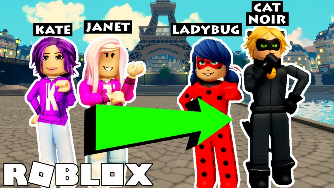 Download Miraculous Roleplay on Roblox! | Janet and Kate Become Ladybug and Cat Noir
