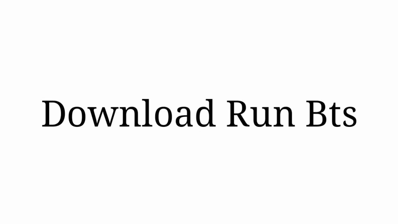 Download Run BTS - Sub Indo All Episodes