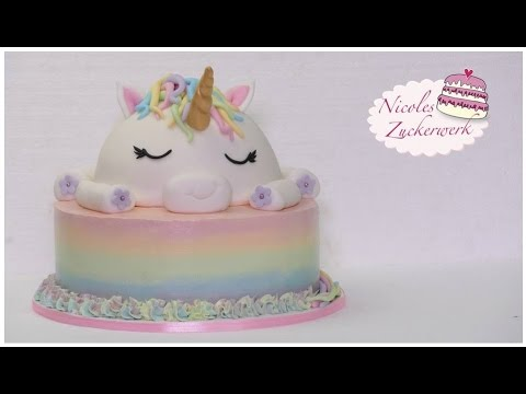 Einhorn Motivtorte I Unicorn Cake I How To Make I Torte Von Nicoles
