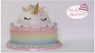 Einhorn-Motivtorte I Unicorn Cake I How to make I Torte von Nicoles Zuckerwerk