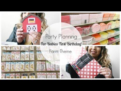 Party Planning For Babies First Birthday  | Farm Theme | Karina Herrera