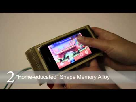 """Morphees: Toward High """"Shape Resolution"""" in Self- Actuated Flexible Mobile Devices at CHI2013"""