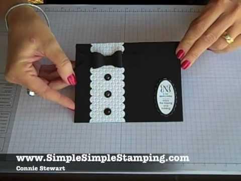 Simple Simple FLASH CARDS 2.0 - Tuxedo Wedding Card by Connie ...