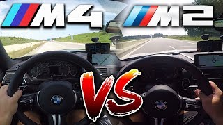 0-290km/h | BMW M2 vs BMW M4 Competition | TOP SPEED, Acceleration TEST✔
