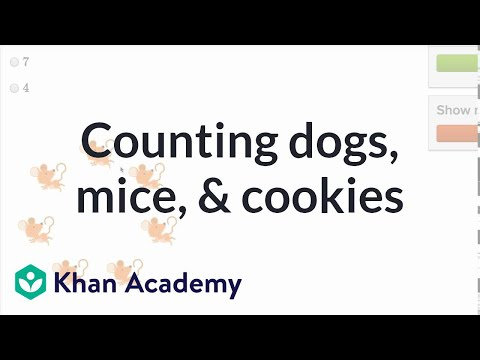 Counting Dogs, Mice, And Cookies | Counting | Early Math | Khan Academy