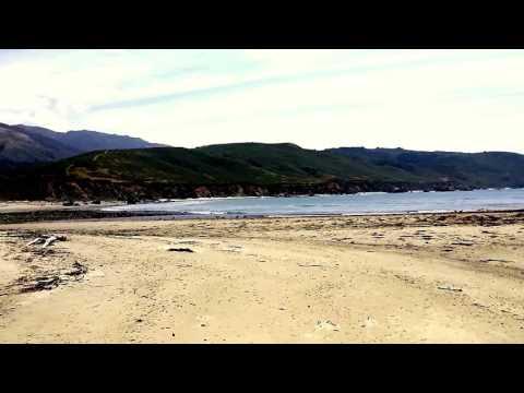The Big Sur River meets the Pacific Ocean