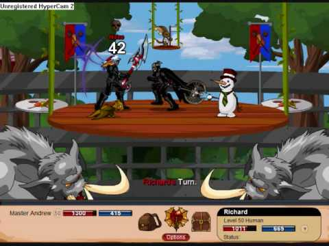 =DragonFable PvP= Master Andrew Vs. Richard (TheRuinedShadow)