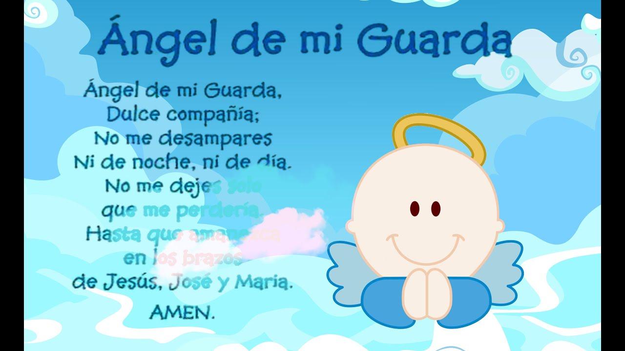 Oracion Y Mensaje De Un Niño Al Angel De La Guarda Youtube