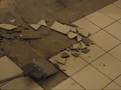 Removing Ceramic Tile >> Removing Ceramic Tiles - YouTube
