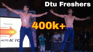 dtu 2k15 fresher body show