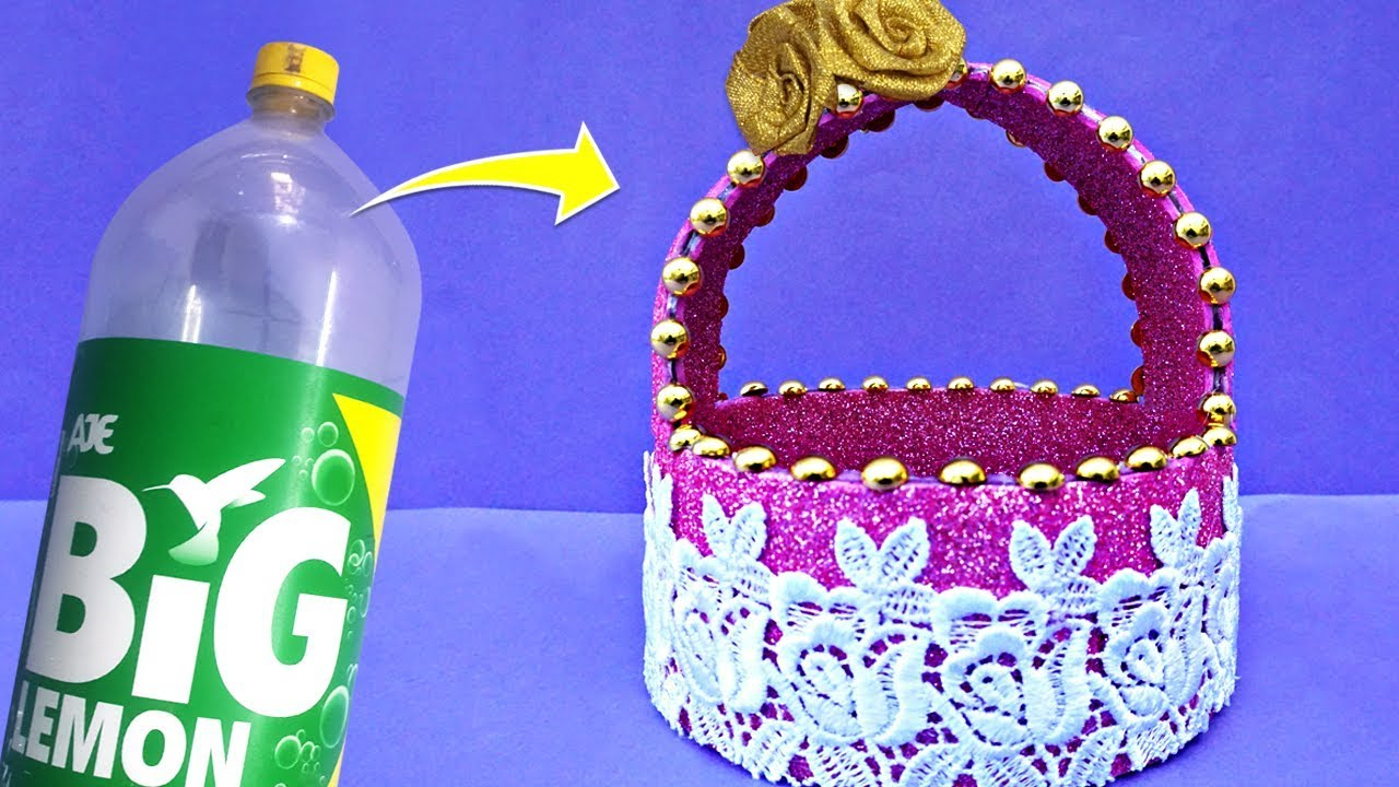 How to Make a Beautiful and Unique Basket From Plastic