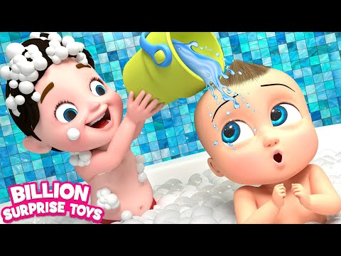 TWINS BABIES Bathing Song  3D Animation Songs for Children