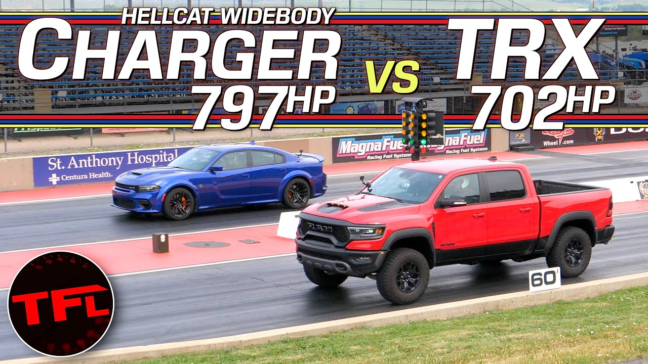 Super Truck vs Super Car: Which Of These Hellcat Monsters Rules The Drag Strip?
