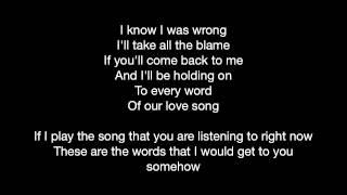 Love Song On The Radio (Lyrics Video) YouTube Videos