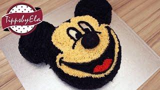 Micky Maus Torte selber machen aus Sahne Anleitung Deutsch