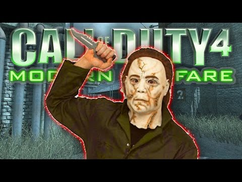 ITS BACK! - CoD4 Remastered MIKE MYERS (Call Of Duty 4 Michael Myers)
