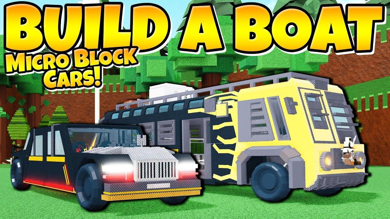 Micro Block CARS! *New wheels* Build a Boat