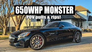 Turning my AMG Daily into a 650whp MONSTER (POV pulls/rips!)