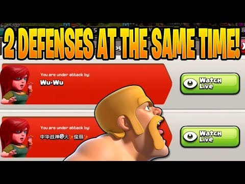 I GOT ATTACKED BY 2 PEOPLE AT THE SAME TIME! - Push To 7k - Clash Of Clans