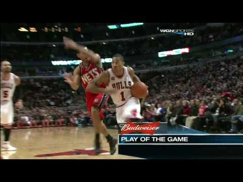 Derrick Rose Highlights vs NJ Nets HDTV 720p - 12/31