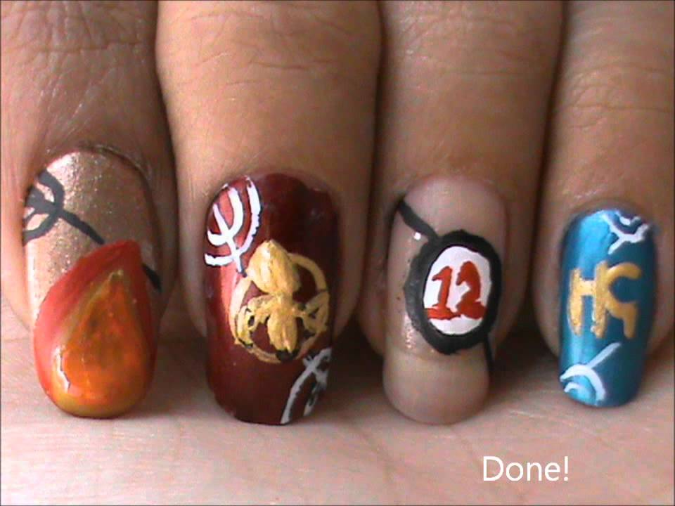 Hunger games nail design tutorial youtube prinsesfo Images