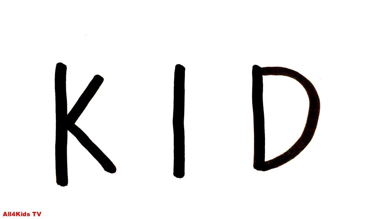 Vẽ Chữ Thành Hình – KID – How to Turn Words KID (Detective Conan) Into a Cartoon