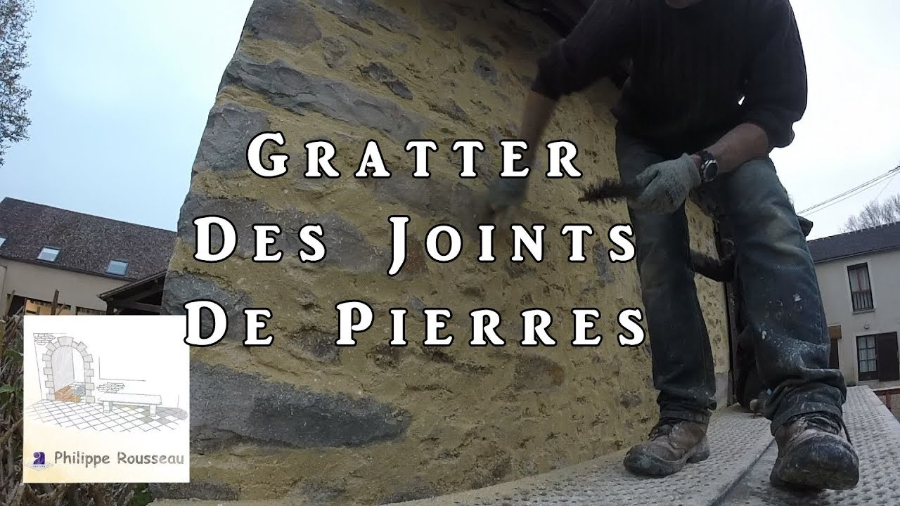 Comment Faire Des Joints De Pierres Apparentes gratter des joints de pierres