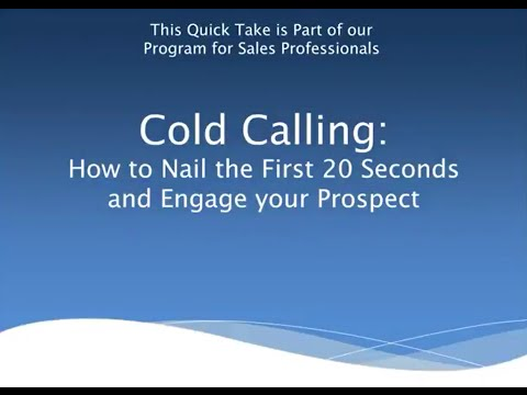 Cold Calling - Nail The First 20 Seconds 1