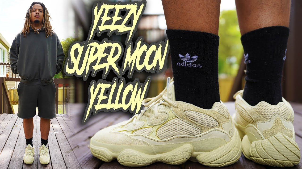 a8449612fbe10 YEEZY 500 SUPER MOON YELLOW + SEASON 6 REVIEW AND ON FOOT !!! - YouTube