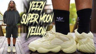 YEEZY 500 SUPER MOON YELLOW + SEASON 6 REVIEW AND ON FOOT !!!