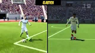 FIFA 15 vs PES 2015  SKILL MOVES