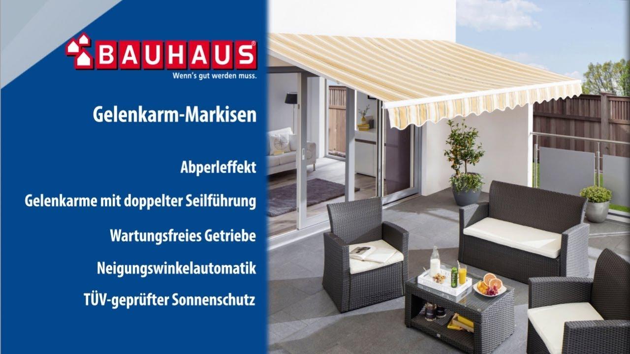 Sunfun Gelenkarm Sonnenstore Grau Weiss Bei Bauhaus Kaufen