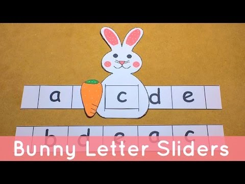 Bunny Letter Sliders - Preschool Alphabet Activity