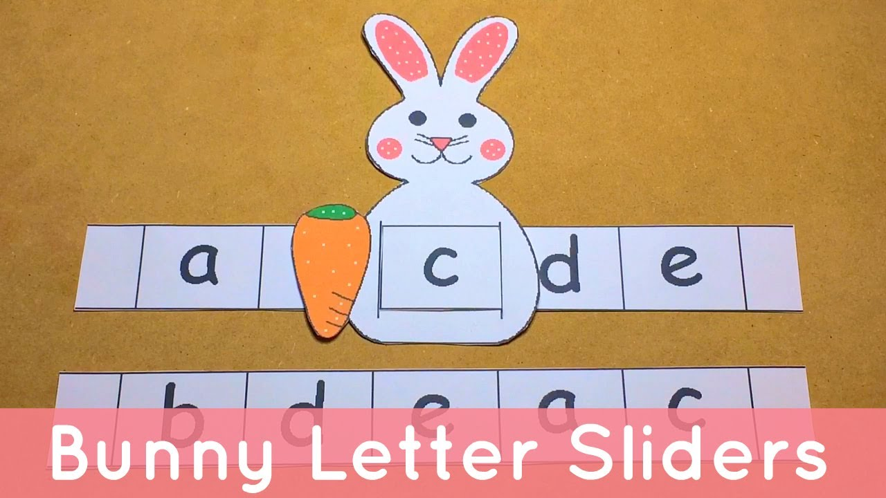 bunny letter sliders preschool alphabet activity youtube