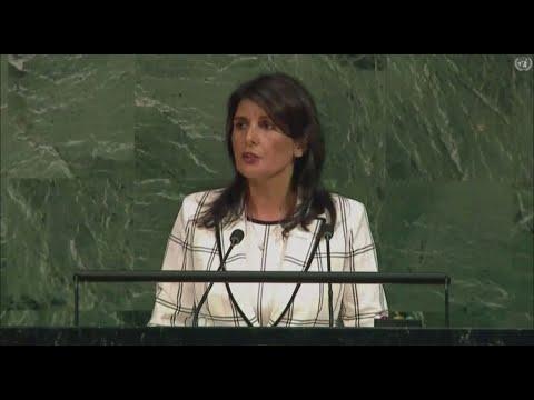 US UN Envoy Nikki Haley Scolds UN General Assembly For Anti-Israel Vote