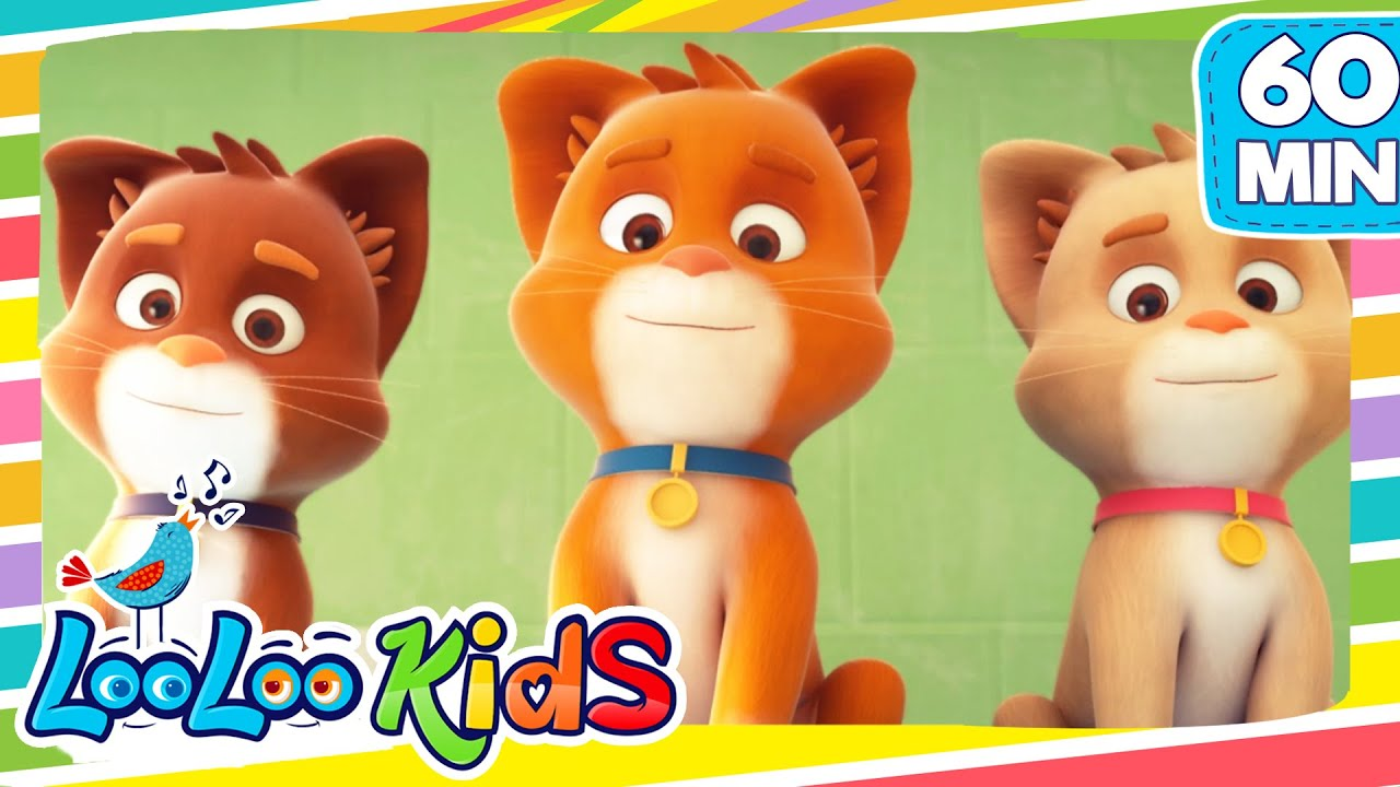 THREE LITTLE KITTENS -  LooLooKids Nursery Rhymes and Kids Songs