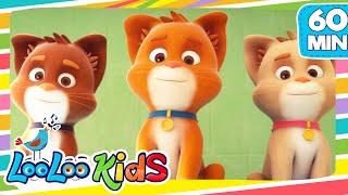 THREE LITTLE KITTENS -  LooLooKids Nursery Rhymes and Kids Songs
