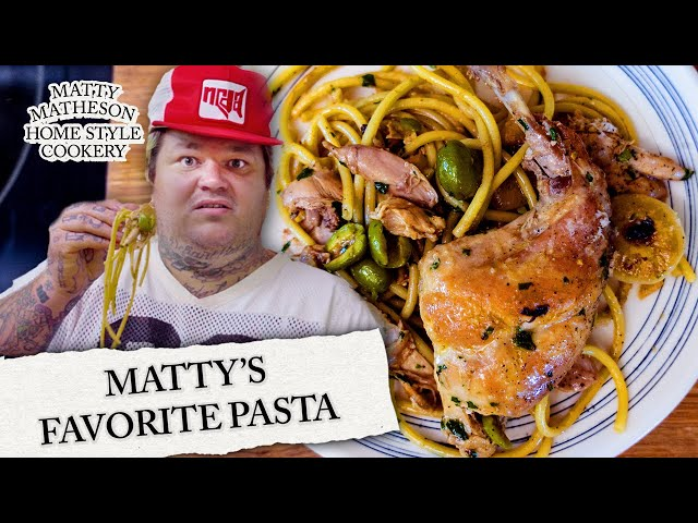 Pasta with Rabbit and Olives | Home Style Cookery with Matty Matheson Ep. 4 - MATTY MATHESON
