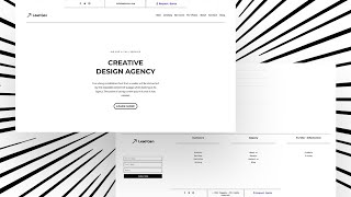 Download a FREE Minimal Header and Footer Combo Design Made with Divi's Theme Builder