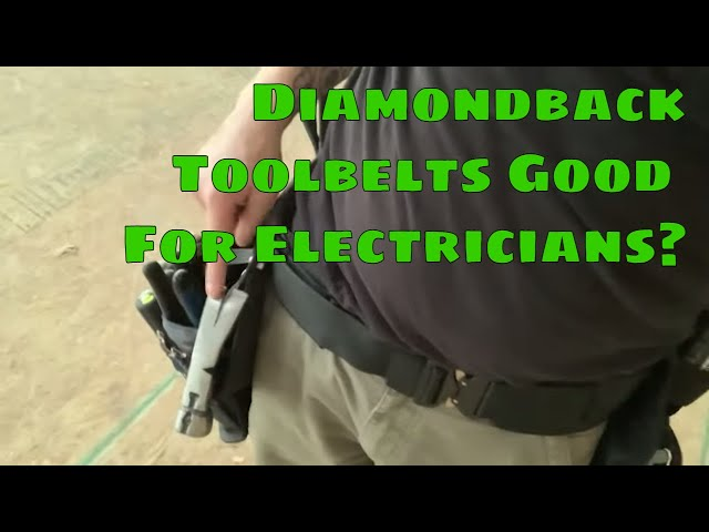Electrician Tests Out a Diamondback Tool Belt