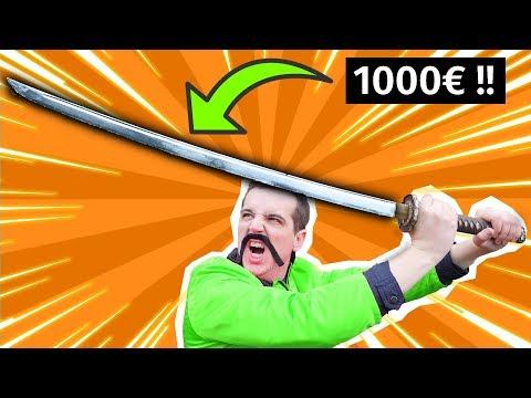 JE TESTE UN KATANA À 1000€ !