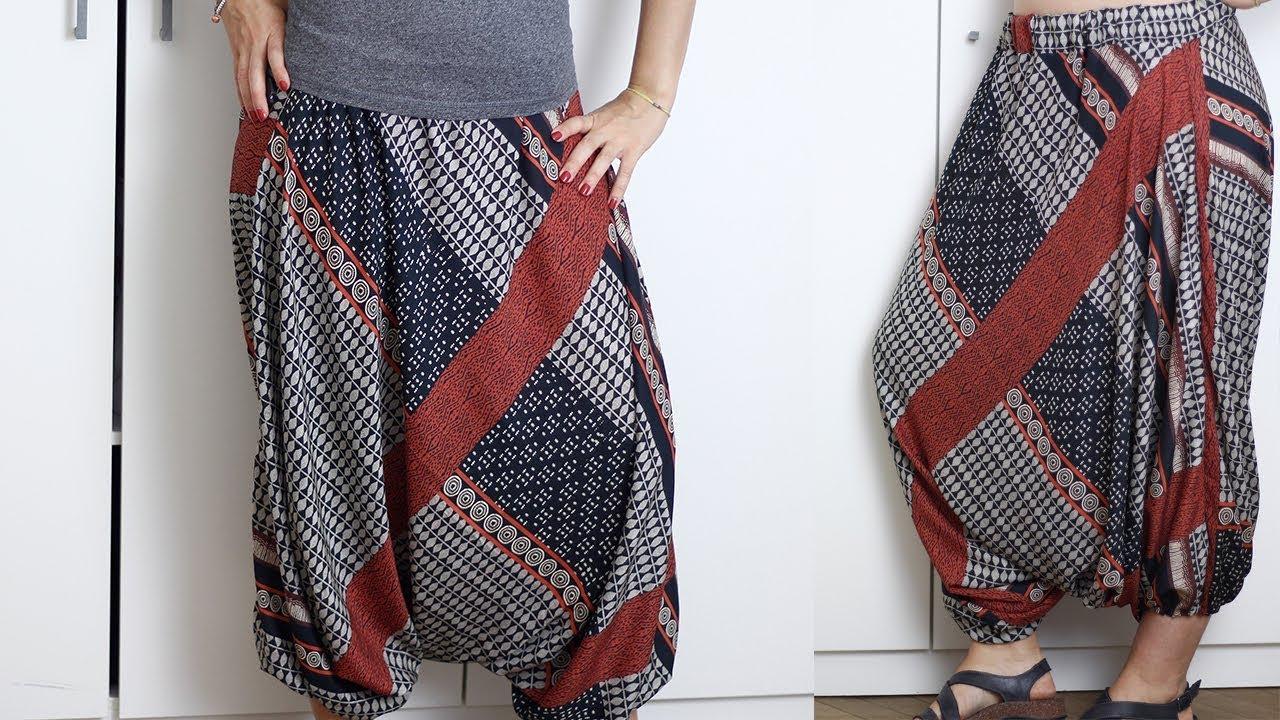premium selection 3cb0a 9111f Pantaloni in stile etnico | Cucito senza cartamodello