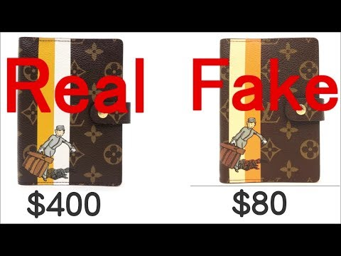 Compare FAKE VS REAL. Louis Vuitton Monogram Groom Bell Boy  Agenda fonctionnel PM Diary cover