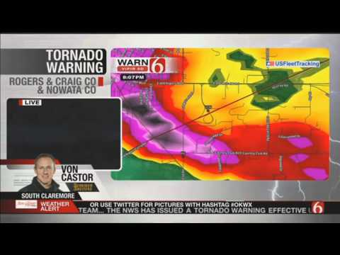 BREAKING WEATHER: NEWS 6, TUSLA, OK LIVE TORNADO COVERAGE