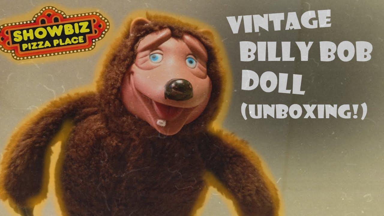Vintage Billy Bob Plushy Unboxing Showbiz Pizza