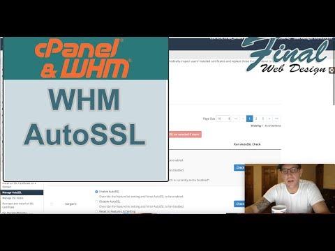 WHM & cPanel: WHM AutoSSL Setup